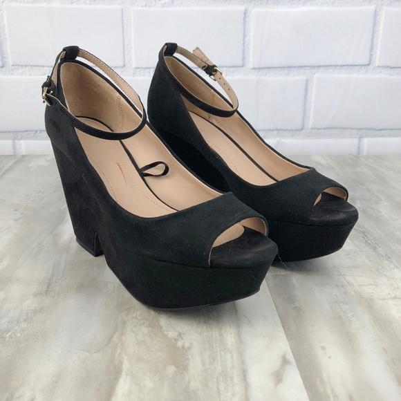 1a6ebf308bc1 Zara Suede Platform Wedge Heels Size 38 8. M 5b1c0f2b03087cb4632462f2.  Other Shoes ...